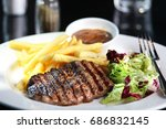 european grilled and hot peace... | Shutterstock . vector #686832145