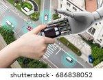 artificial intelligence  ai ... | Shutterstock . vector #686838052