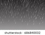 vector rain isolated on... | Shutterstock .eps vector #686840032