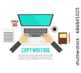 copywriter and copywriting.... | Shutterstock .eps vector #686841025