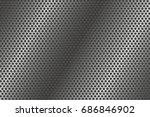 metal perforated background.... | Shutterstock .eps vector #686846902