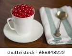 fresh ripe red currants in a... | Shutterstock . vector #686848222