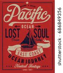 vintage nautical graphics and... | Shutterstock .eps vector #686849356