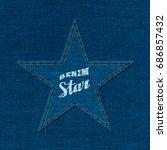 denim star logo lettering... | Shutterstock .eps vector #686857432