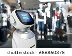 smart retail sales and crm... | Shutterstock . vector #686860378
