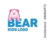 bear logo for kid and children...   Shutterstock .eps vector #686860972