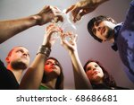 group of people celebrating ... | Shutterstock . vector #68686681