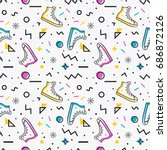 stylish seamless pattern with... | Shutterstock .eps vector #686872126