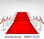 realistic vector red event...   Shutterstock .eps vector #686872252