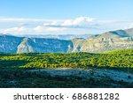 mountainous dubrovnik | Shutterstock . vector #686881282