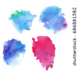 colorful abstract watercolor... | Shutterstock .eps vector #686881582