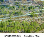 trekking part of the national...   Shutterstock . vector #686882752