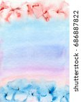 watercolor painting. soft pink... | Shutterstock . vector #686887822