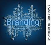 branding tag cloud | Shutterstock .eps vector #686890978