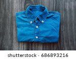 men's casual outfit with denim... | Shutterstock . vector #686893216