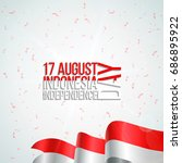 17 august. indonesia happy... | Shutterstock .eps vector #686895922