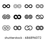 set of infinity symbol icon | Shutterstock .eps vector #686896072