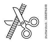 scissors cut the rope. vector...   Shutterstock .eps vector #686896648