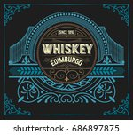 vintage design for labels.... | Shutterstock .eps vector #686897875