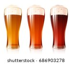 glass of beer with a varieties... | Shutterstock .eps vector #686903278
