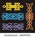 a set of celtic ornamental...   Shutterstock .eps vector #68690341