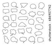 icon set of empty speech... | Shutterstock . vector #686907742