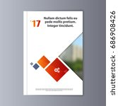 abstract flyer design... | Shutterstock .eps vector #686908426