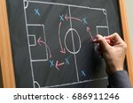 man planning for a football... | Shutterstock . vector #686911246