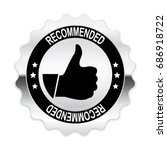silver recommended badge with... | Shutterstock .eps vector #686918722
