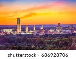 albany  new york  usa city... | Shutterstock . vector #686928706