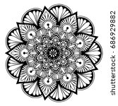 mandalas for coloring book.... | Shutterstock .eps vector #686929882
