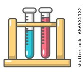 medical test tubes in holder... | Shutterstock .eps vector #686935132