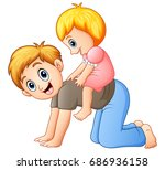vector illustration of father... | Shutterstock .eps vector #686936158