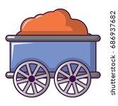 train wagon icon. cartoon... | Shutterstock .eps vector #686937682