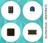 flat icon appliance set of... | Shutterstock .eps vector #686938672