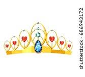 princess tiara icon. cartoon... | Shutterstock .eps vector #686943172
