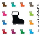 isolated wellies icon. shoes... | Shutterstock .eps vector #686944996