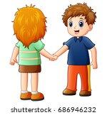 vector illustration of cartoon...   Shutterstock .eps vector #686946232
