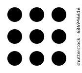 dial button icon . | Shutterstock .eps vector #686946616