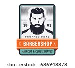 vintage gentleman close shave... | Shutterstock .eps vector #686948878
