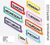 day letter in speech frame.... | Shutterstock .eps vector #686951122