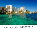 view over cala mayor resort... | Shutterstock . vector #686952118