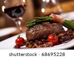 grilled beef with tomato | Shutterstock . vector #68695228