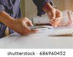 shopping online concept. man... | Shutterstock . vector #686960452