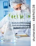 biotechnology concept with... | Shutterstock . vector #686965138