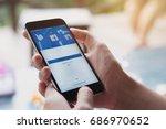 chiang mai  thailand   july 30  ... | Shutterstock . vector #686970652