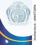 flag of nauru  template for the ... | Shutterstock .eps vector #686972896