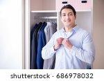 young man businessman getting... | Shutterstock . vector #686978032