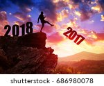 concept new year 2018.... | Shutterstock . vector #686980078