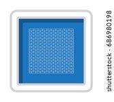 brick icon vector flat design... | Shutterstock .eps vector #686980198